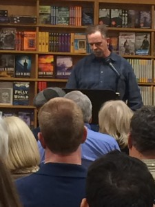A reading at a bookstore. Photo copyright: Curt Anderson