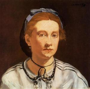 Portrait of Victorine Meurent, by Manet