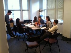 First day of rehearsal (Photo: Azuka Theatre)