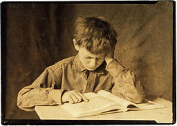 256px-Lewis_Hine,_Boy_studying,_ca._1924